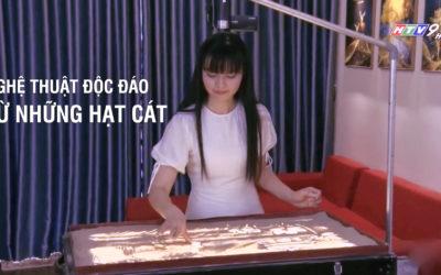 Tranh Cát Quỳnh Hoa Trên Kênh Truyền Hình HTV9