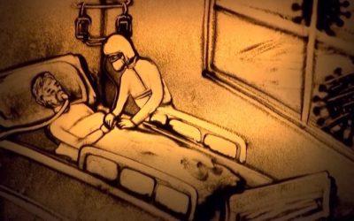 Cảm Động Clip Vẽ Tranh Cát Về Người Bác Sĩ Quân Y Trong Đại Dịch Covid-19